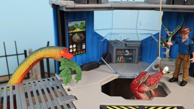 【コロネおじさん Uncle Corone】シュライヒ恐竜のおもちゃ『ダイノリサーチステーション』プレイセット