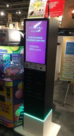 スマホ修理工房渋谷モディ店に設置したChargeMeタワー型ステーション