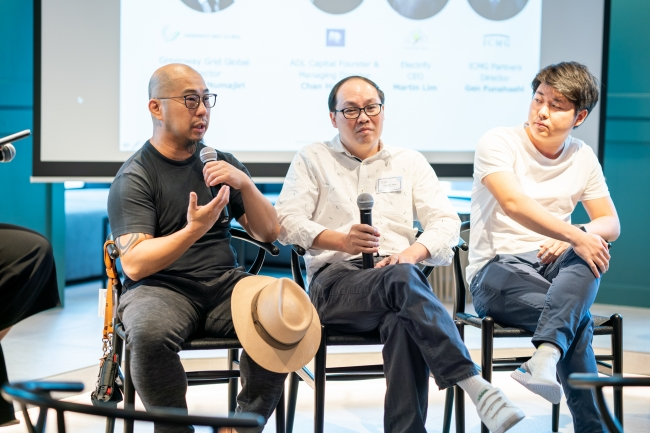 左から、 Electrify Martin Lim氏、ADL Capital Chag Han Meng氏、ICMG 船橋元