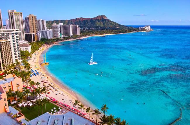 ハワイ オアフ島 ワイキキビーチ