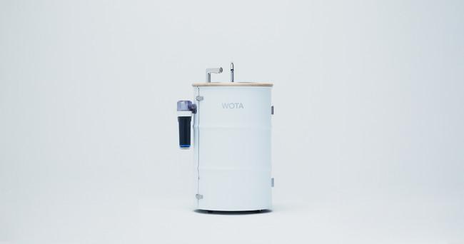 ▲水循環型手洗いスタンド「WOSH」