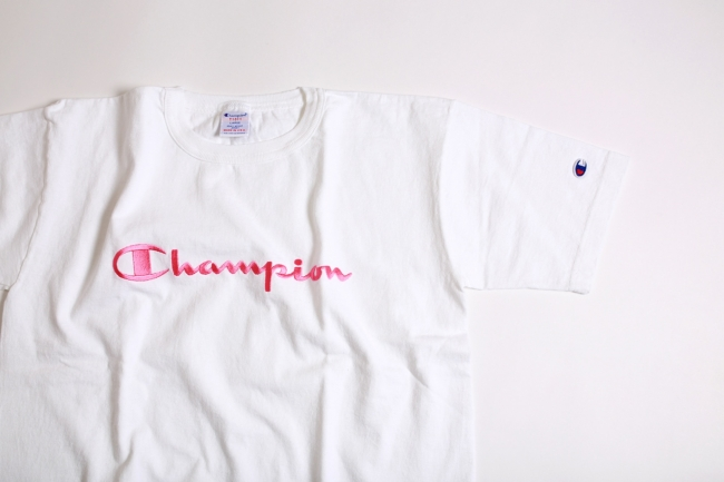 Champion For her渋谷109 オープン記念限定商品Made in USA「T1011」Tシャツ イメージ