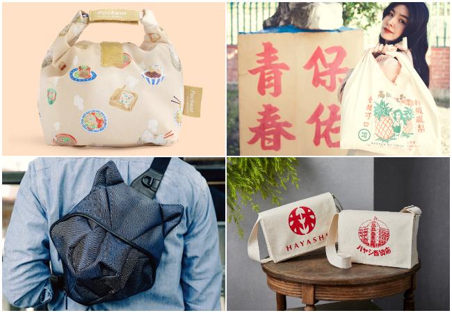 左上から時計回りに、agooday、一帆布包、ORIBAGU、ハヤシ百貨店(すべて台湾)
