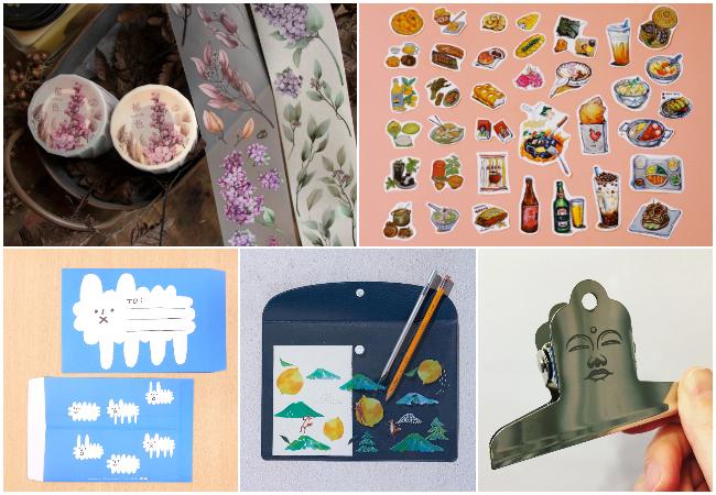 左上から時計回りに、Loidesign(台湾)、OUNCE studio(台湾)、Yohand Studio(台湾)、Hello Studio(台湾)、coto mono(日本)