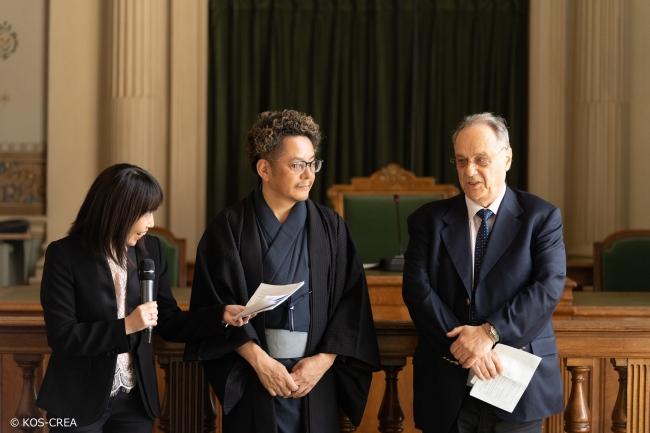 パリ1区国際文化フェスティバル委員会 ギー・ジラール氏と