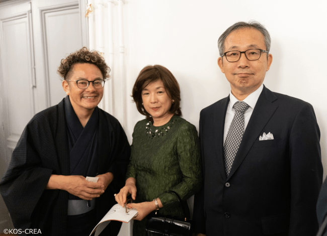 ユネスコ日本政府代表部特命全権大使山田滝雄ご夫妻と