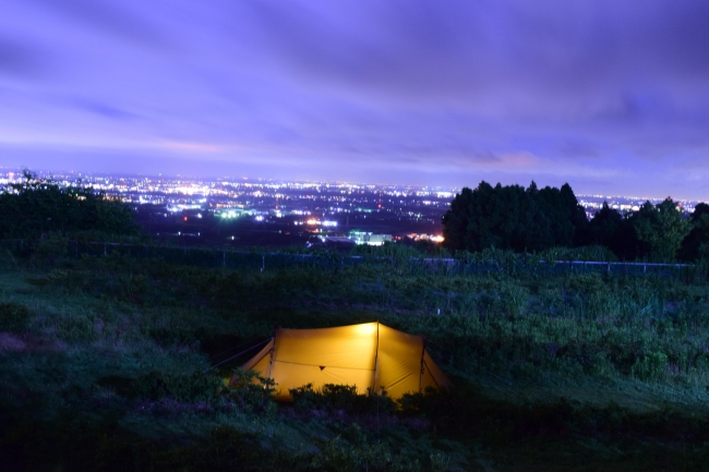 ご提供いただいている遊休地キャンプ場からの眺め