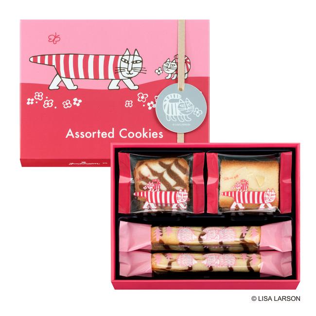 アソーテッドクッキー 10個入り(ロールクッキー4個/スライスアーモンドクッキー3個 /ジャンドゥーヤサンドクッキー3個) ¥648(税込)