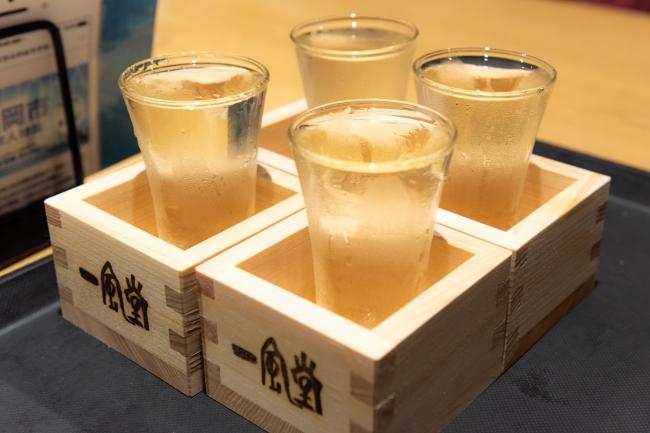 イベントで振る舞われた福岡の地酒