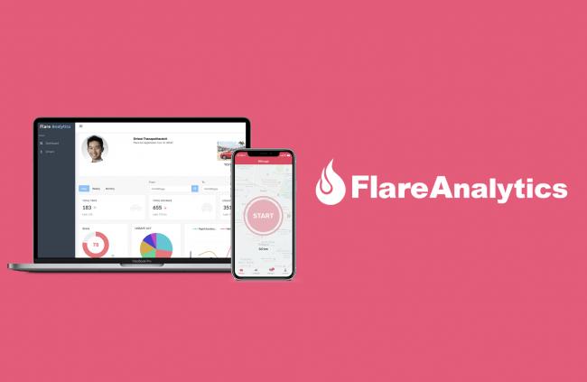図1 Flare Analytics管理画面とSDKを実装したFlare Ad(アプリ)
