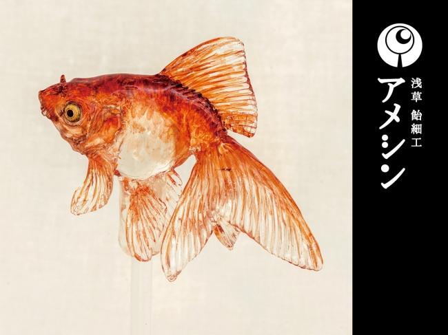 手塚新理の代表作:飴細工「金魚」