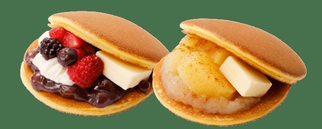 イートイン限定のスペシャルメニュー。左「ベリークリームチーズ」と右「アップルシナモン」。