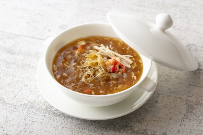 蟹肉入りコニッシュジャックのスープ