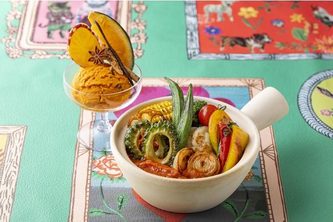 焼野菜カレーxスパイシー・マンゴーアイスクリーム
