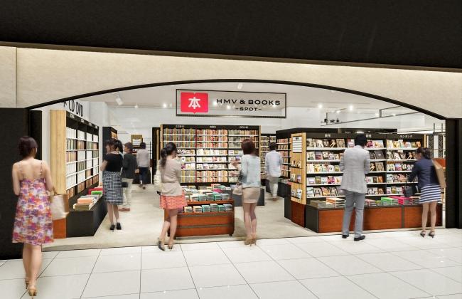 ▲「HMV&BOOKS SPOT 伊丹空港」店舗イメージ