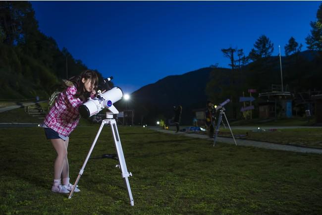 望遠鏡での観測イメージ