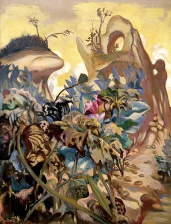 「花」 1938 年 油彩、キャンバス