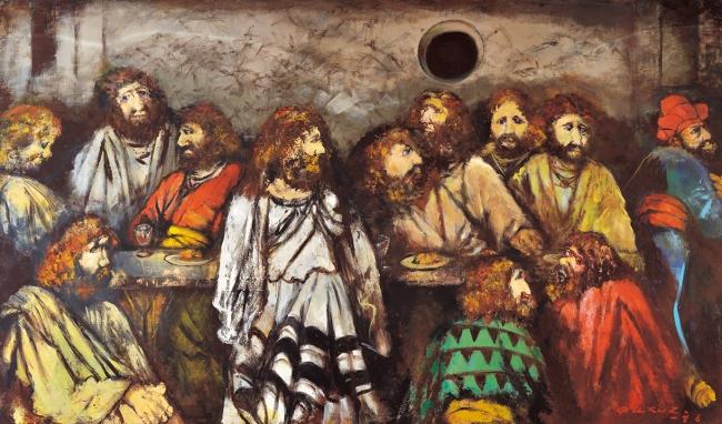 「幽暗のレオナルド・ダヴィンチ」 1986年 アクリル、キャンバス