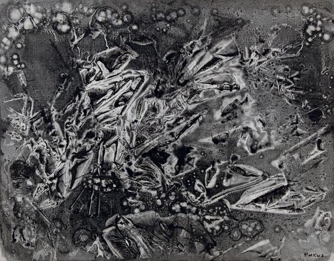 「黒い幻想(ニューヨークにて)」 1963 年 油彩、キャンバス