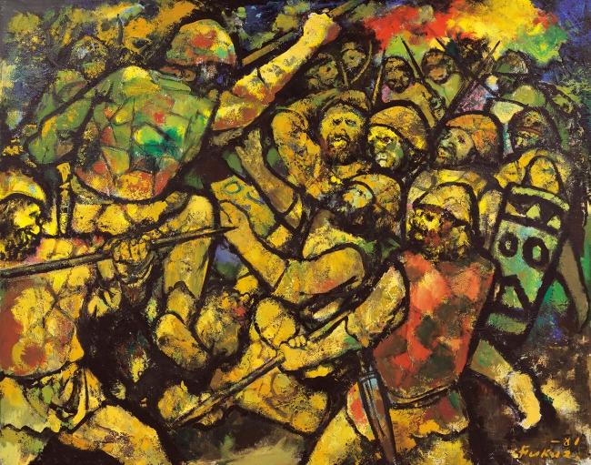 「邪馬台国闘う」 1981年 アクリル、キャンバス 関連イベント