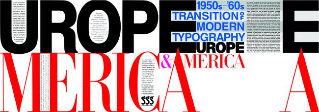 木下勝弘「Transition of Modern Typography: Europe & America」1996 シルクスクリーン