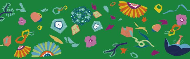 「peace」生産デザイン学科テキスタイルデザイン専攻3年 阿部綸花*ちびっこ広場トイレ採用作品