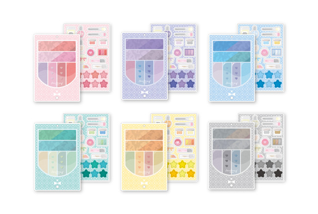 アイシャドウアクリルフレーム クリームカラー(全6種)¥1,980(税込)