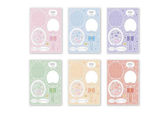 キャンディーミラーアクリルフレーム パステル(全6種)¥2,530(税込)