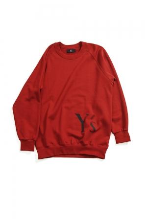 Y's Logo Pullover Sweatshirts Red