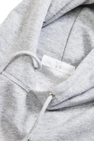 Y's Logo Hoodie Gray detail