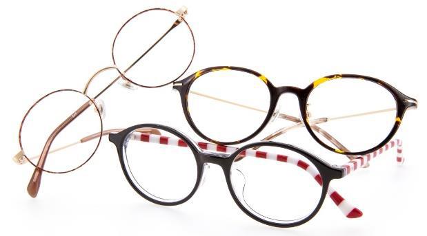 Zoffには「まるメガネ」が100種類以上、  ズラリ。