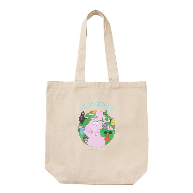 オンラインストアで8,888円(税込)以上お買い物をするともらえる、バーバパパ オリジナルデザイン トートバッグ(非売品)。