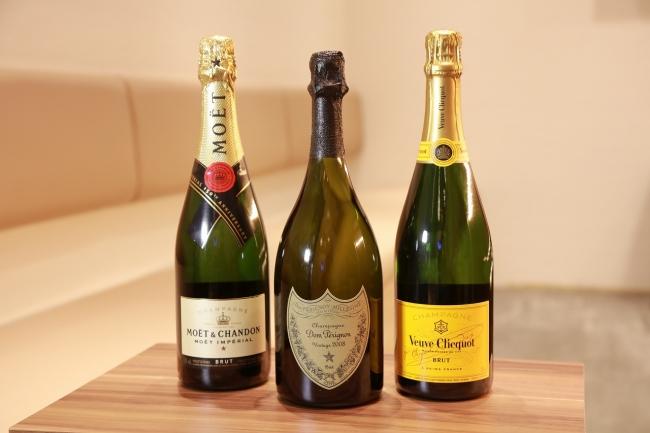 各種シャンパンもあります