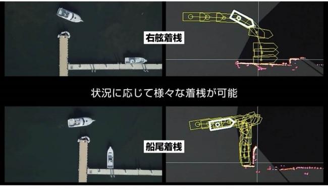 <自動着桟システムの操船イメージ>