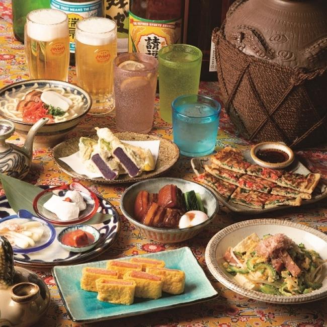 伝統的な沖縄料理や泡盛