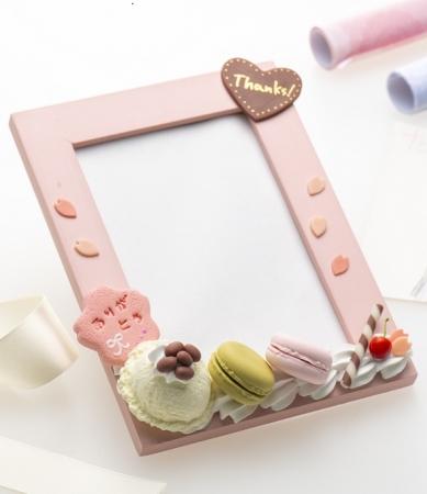 桜クッキーのメッセージ入りフォトフレーム作り