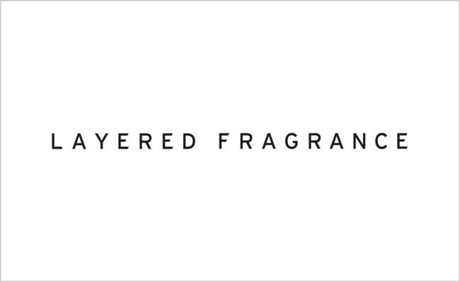 「LAYERED FRAGRANCE」ロゴ