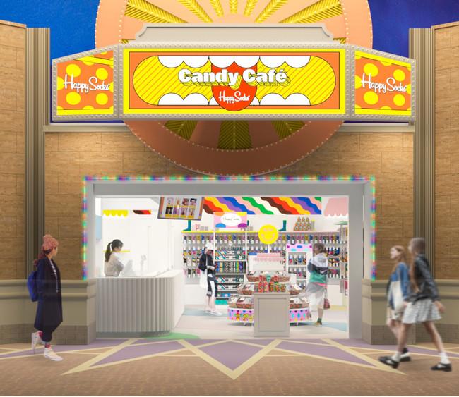 「Happy Socks Candy Cafe」外観イメージ