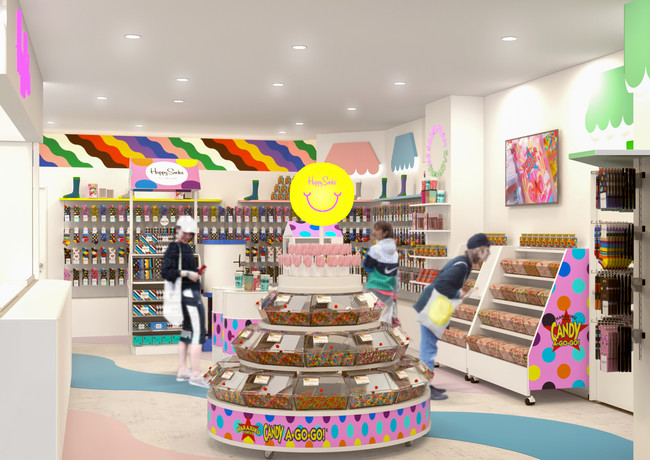 「Happy Socks Candy Cafe」内観イメージ