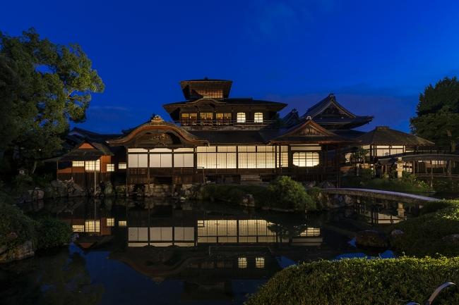 西本願寺 飛雲閣ライトアップ