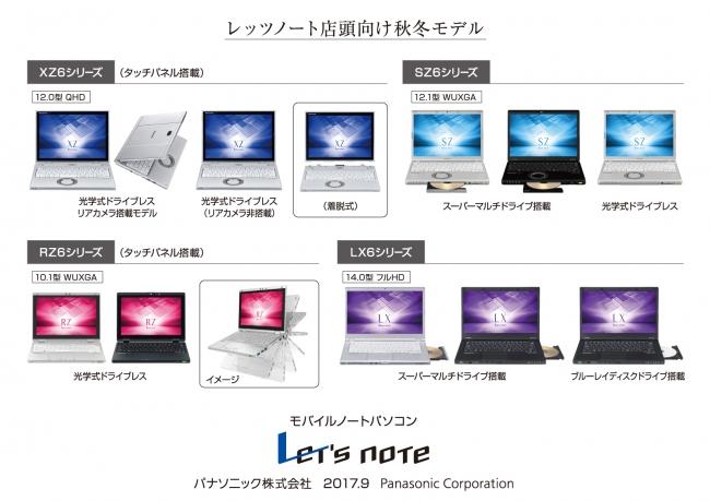 モバイルパソコン「レッツノート」個人店頭向け 秋冬モデル