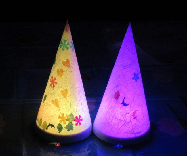 親子LED工作教室 「クリスマスランプをつくろう!」作品完成イメージ