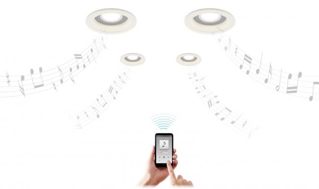 スピーカー付ダウンライト 多灯用子器/使用イメージ