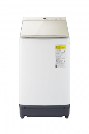 パナソニック 縦型洗濯乾燥機「NA-FW100K7-N」(シャンパン)正面