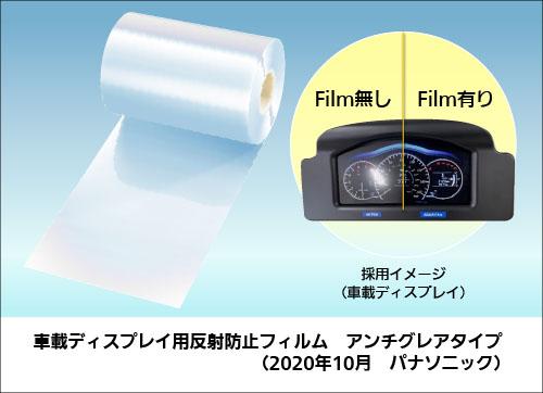 アンチグレアタイプの車載ディスプレイ用反射防止フィルム(イメージ)
