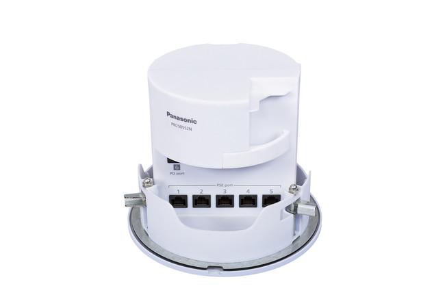天井埋込型PoE給電スイッチングハブ「CiLINシリーズ」CiLIN-5PoE+PD