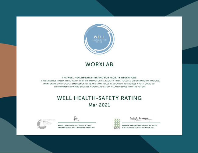 WELL Health-Safety Rating 認証書