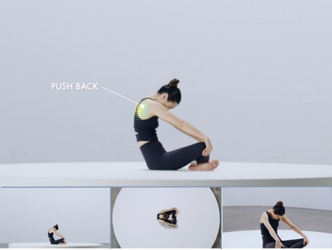 ※「Connect to yourself -5G Multi-Angle Yoga」のイメージ