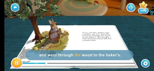3Dモードの読書イメージ