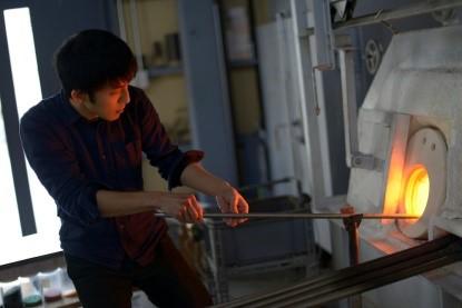 ◇「アートビオトープ那須」ガラス・陶芸スタジオ写真 <ガラス工房>